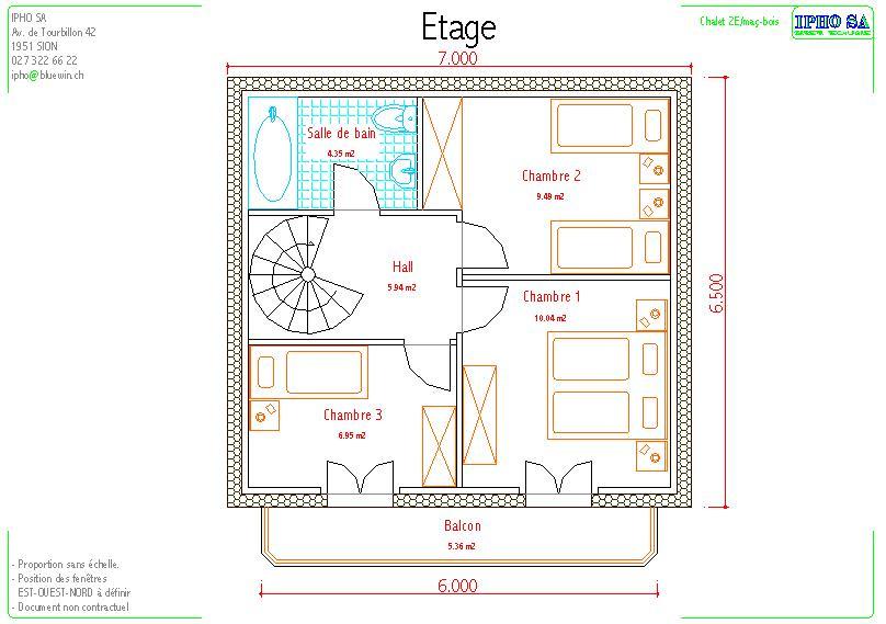 Appartements vente for Dimension chambre